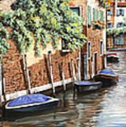 Barche A Venezia Art Print