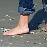 Barefoot On The Beach Art Print