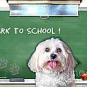 Bark To School Art Print