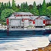 Barkhouse Boatshed Art Print