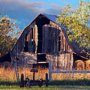 Barn At Ash Flat Arkansas Art Print