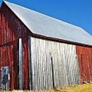 Barn By Side Of Road Art Print