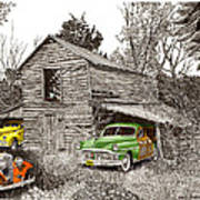 Barn Finds Classic Cars Art Print by Jack Pumphrey
