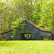 Barn From The Forgotten Farm Art Print