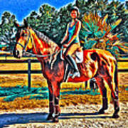 Barn Horse Two Art Print