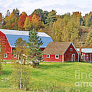 Barn In Autumn Art Print