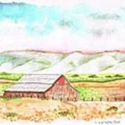 Barn In Cambria - California Print by Carlos G Groppa