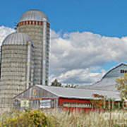 Barn In The Clouds Art Print