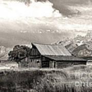 Barn In The Tetons Art Print
