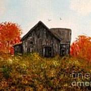 Barn Old Rusted And Deserted Art Print