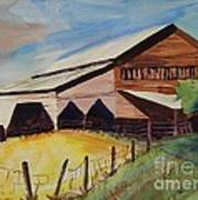 Barn On Rt. 42 Art Print