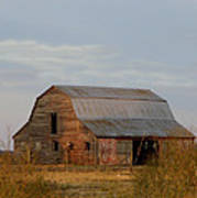 Barn On The Prairie Art Print