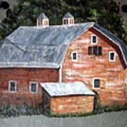 Barn On Va Creeper Trail Art Print