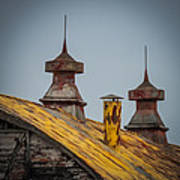 Barn Roof In Color Art Print