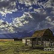 Barn With A View Art Print