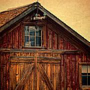 Barn With Weathervane Art Print by Jill Battaglia