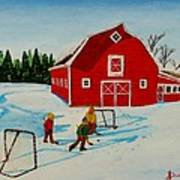 Barn Yard Hockey Art Print