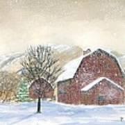 Barns In Winter Art Print