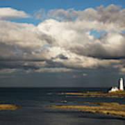 Barns Ness Lighthouse  East Lothian Art Print