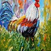 Barnyard Rooster Art Print by Barbara Pirkle
