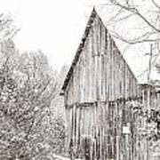 Barnyard Snowfall Art Print