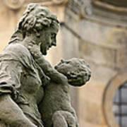 Baroque Statue Depicting Motherhood Art Print