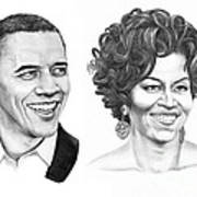 Barrack And Michelle Obama Art Print