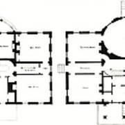 Barrel House Floor Plan In Landscape Art Print