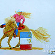 Barrel Racer Art Print