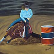Barrel Racer Art Print