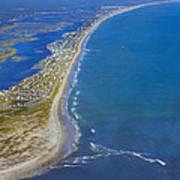 Barrier Island Aerial Art Print