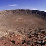 Barringer Crater, Fisheye View Art Print