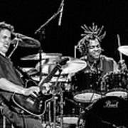 Barry Alexander Drumming For Johnny Lang Art Print