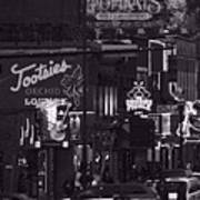 Bars On Broadway Nashville Print by Dan Sproul