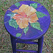 Barstool Hibiscus Art Print
