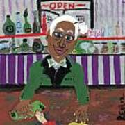 Bartender At The Country Club Art Print