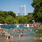 Barton Springs Pool Art Print