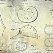 Baseball Patent Panoramic Art Print