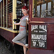 Base Ball To Day Color Version Art Print