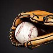 Baseball And Glove Print by Joe Belanger