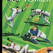 Baseball Ballet Art Print