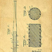 Baseball Bat Patent Art Print