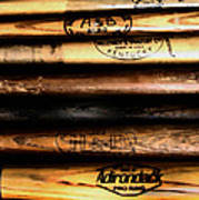 Baseball Bats Art Print