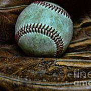 Baseball Broken In Art Print by Paul Ward