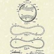 Baseball By Maynard 1928 Patent Art Art Print by Prior Art Design