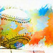 Baseball- Colors- Isolated Art Print