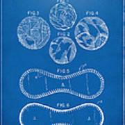Baseball Construction Patent - Blueprint Art Print