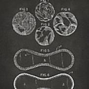 Baseball Construction Patent - Gray Art Print