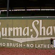 Baseball Field Burma Shave Sign Art Print