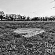 Baseball - Home Plate - Black And White Art Print